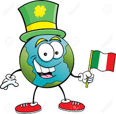 Images Of The Irish Flag Cartoon Illustration Of The Earth Holding An Irish Flag And