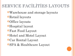plant layout of hotel facility layout material handling
