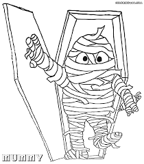 mummy coloring pages coloring pages to download and print