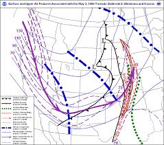 Weather Map Texas The Great Plains Tornado Outbreak Of May 3 4 1999 Maps And Diagrams