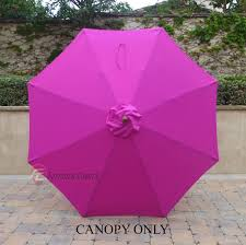 Replacement Canopy by Market Patio Umbrella Replacement Cover Canopy 8 Ribs Fuchsia