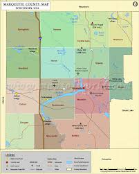 Wisconsin Topographic Map by Marquette County Map Wisconsin