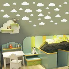 online get cheap big wall stickers for kids aliexpress com new 31pcs set diy big clouds 4 10 inch wall sticker removable wall decals