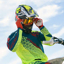 fly racing motocross gear fly racing new mx kinetic mesh trifecta dirt bike yellow teal