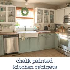 linen chalk paint kitchen cabinets chalk painted kitchen cabinets two years later our