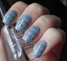 the polished medic newspaper nails with tutorial alternative