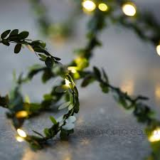led garland christmas lights waterproof 5m 50 leds leaf garland battery operate copper led fairy