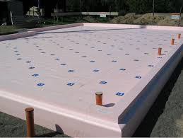 Icf Concrete Home Plans The Eps Formwork For An Insulated Raft Foundation Becomes A
