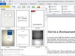 how to add a cover page to a word 2010 document dummies
