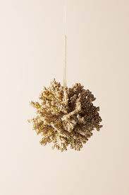 glittered coral ornament anthropologie