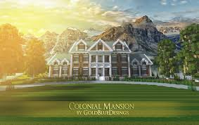 colonial mansion colonial mansion 1 architecture creation 3967
