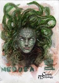 medusa sketch card bard by pernastudios on deviantart