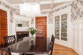 Corner China Cabinet In Dining Room Victorian With Builtin Mirror - Built in dining room cabinets