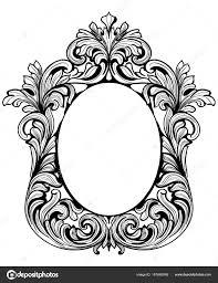 fabulous baroque mirror frame set vector luxury rich