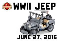 army jeep new release wwii us army jeep custom lego military youtube