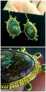 green opal earrings 225 best boulder opal earrings images on pinterest opal earrings