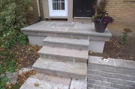 india stone on concrete porch parged sides hobsonlandscapes com
