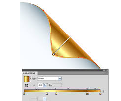 Golden Color Shades Quick Tip How To Make A Golden Curled Corner Using Adobe Illustrator