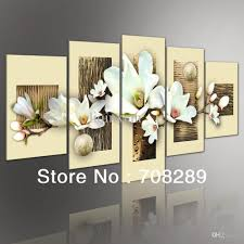 modern art for home decor thick texture magnolia 5pcs set modern abstract oil paintings