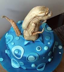 Movie Themed Cake Decorations Alien Chestburster Cake Cake Pinterest Aliens Cake And