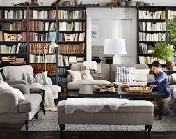 Wohnzimmer Mit K He Einrichten Ikea Stocksund 3 Sits Soffa Med Två Stycken Fåtöljer I Nolhaga