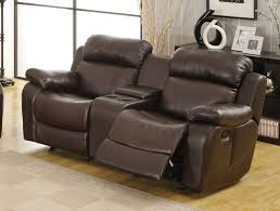 Recliner Sofas On Sale Leather Reclining Sofa With Console Radiovannes