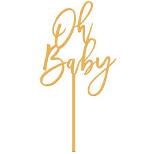 baby cake topper cake topper oh baby gold mingle