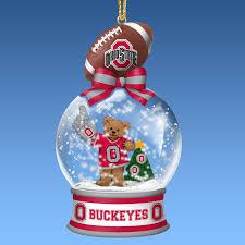 ohio state buckeyes snow globe ornaments the danbury mint