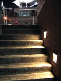 Outdoor V Lighting - recessed outdoor wall light with in led step rect indoor aspectled