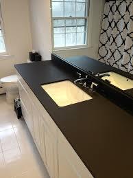 a richlite blackdiamond bathroom vanity for a home in darien