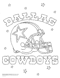 dallas cowboys coloring pages fablesfromthefriends com
