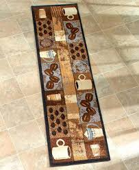 rugs runners mats coffee themed kitchen rugs