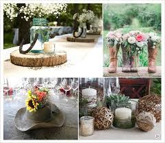 centre de table mariage fait maison décoration mariage western country chic