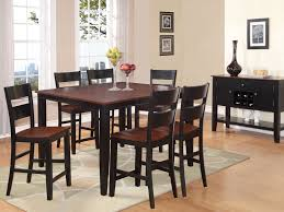 Black Wooden Dining Table And Chairs Dining Room