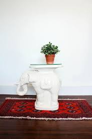elephant end tables ceramic vintage elephant side table ceramic garden stool mid century