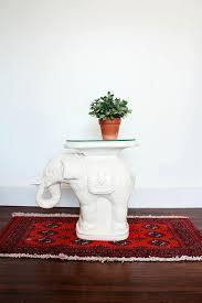 elephant end tables ceramic vintage elephant side table ceramic garden stool mid century