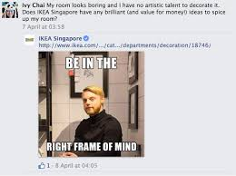 ikea puns ikea sends pun filled memes in clever exchanges with its facebook