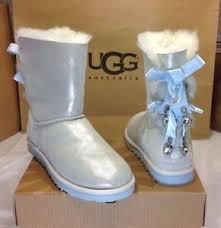 ebay womens winter boots size 11 295 nib womens white ugg australia bailey bow bling i do size 11