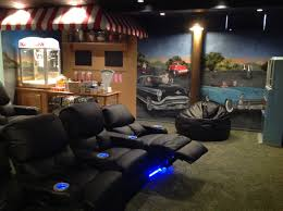 Home Theater Room Decor 50 U0027s Style Drive In Theater Room In A Basement In Monroe Mi
