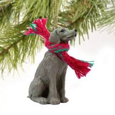 weimaraner miniature ornament home kitchen
