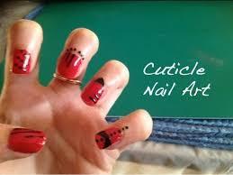 easy cuticle nail tattoo art tutorial youtube
