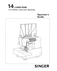 singer 14u454b ultralock user manual 48 pages also for