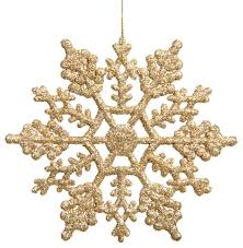 club set of 24 shimmering chagne glitter snowflake