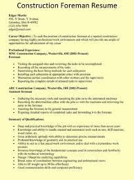 construction superintendent resume examples and samples general
