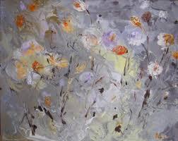 silver flowers silver flowers contemporary paintings by olga gernovski