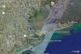 Galveston Island Map Galveston
