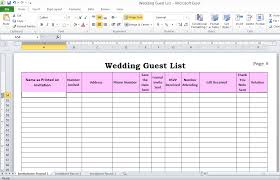 exle of wedding program create a wedding guest list template for excel to track wedding