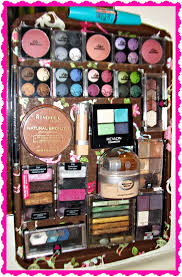 diy magnetic makeup board with a decorated cookie sheet you can