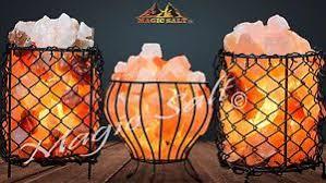 himalayan salt l basket himalayan salt l metal iron basket bowl filled with salt chunks