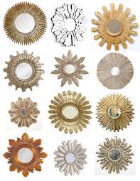 Mirrors For Home Decor Decorating Gold Sunburst Mirror Plus Console Table And Pretty